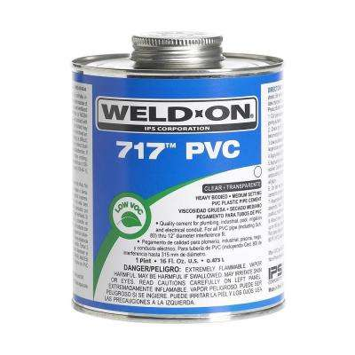 16 oz. PVC 717 Heavy Duty Low VOC Cement in Clear