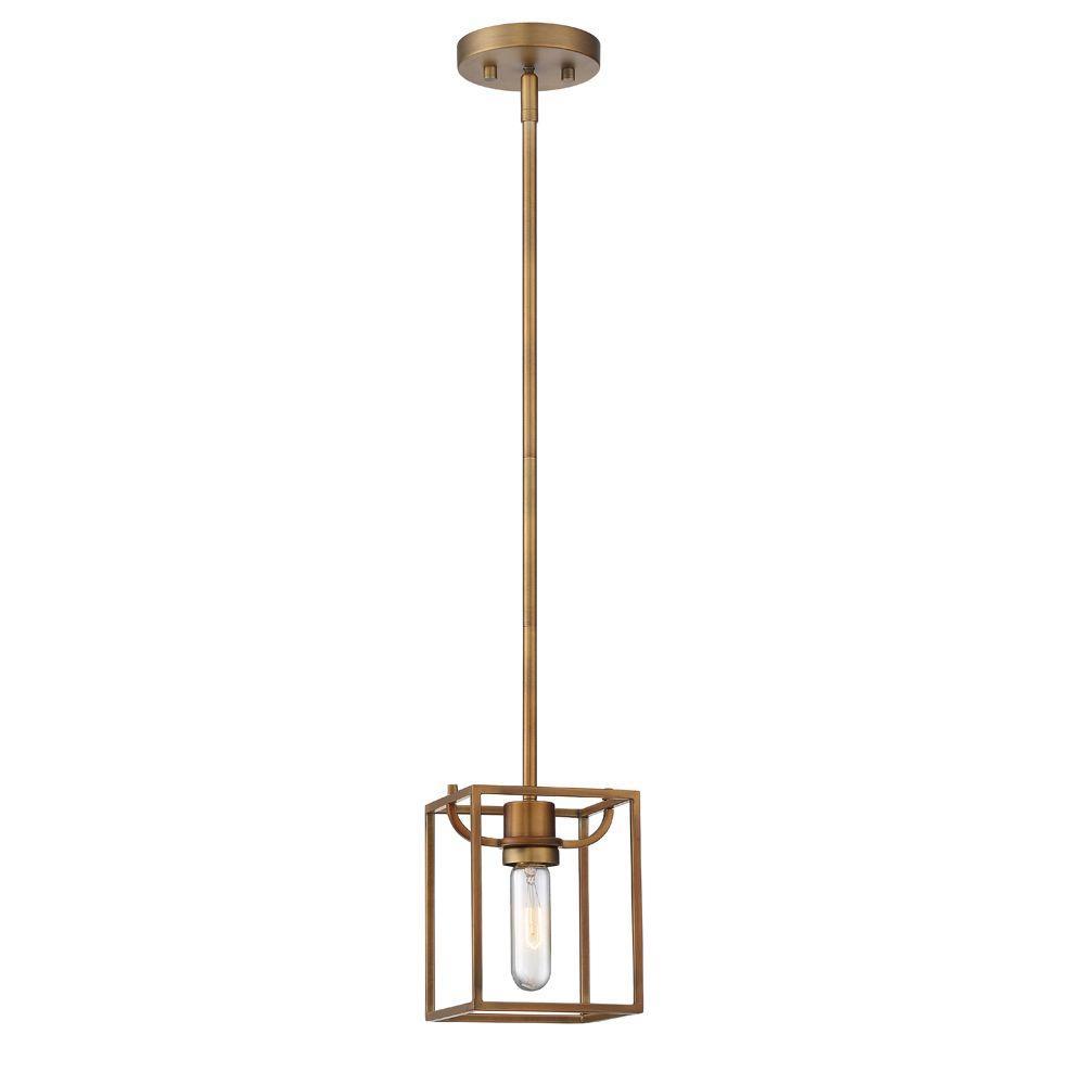 Uptown 1-Light Old Satin Brass Interior Mini-Pendant