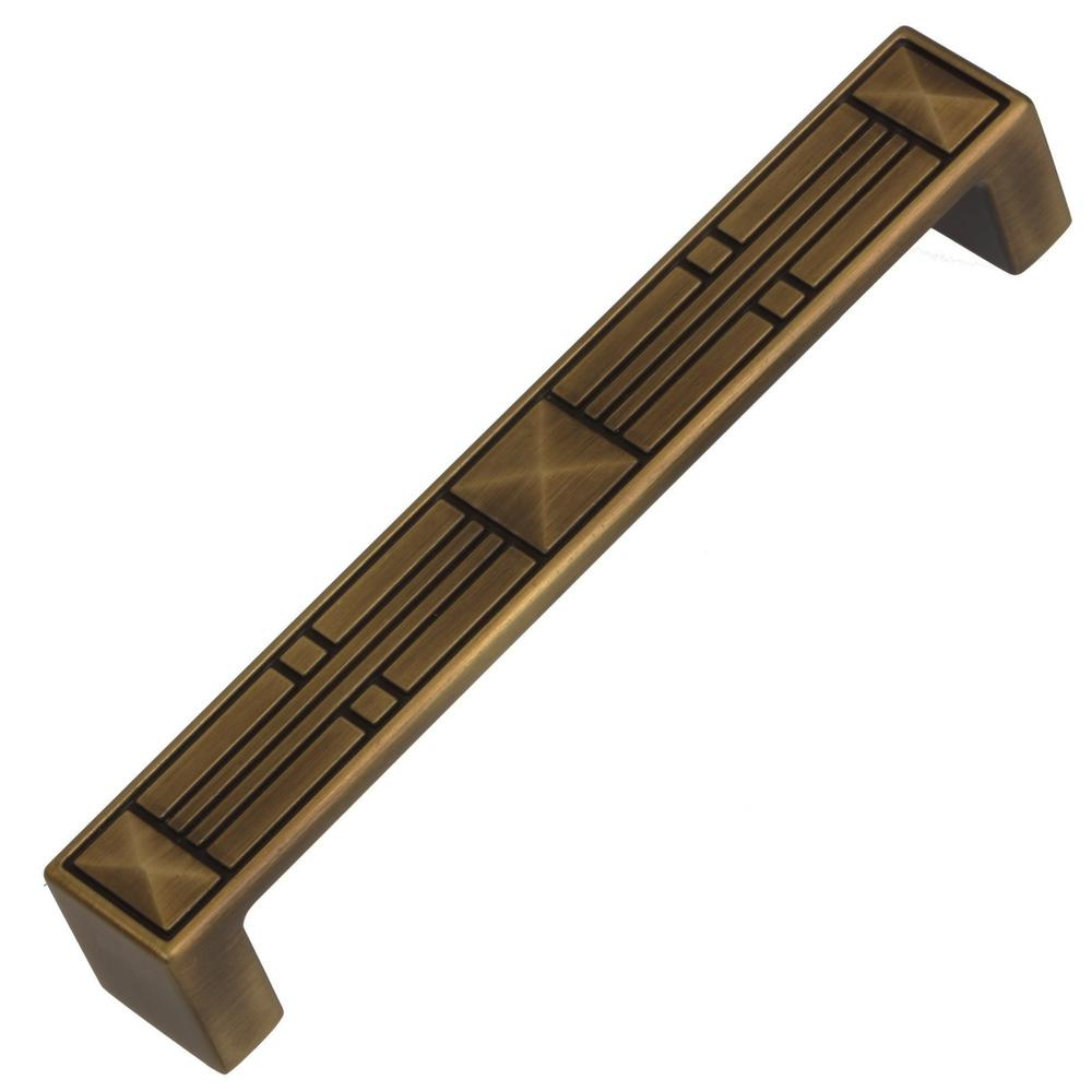 5 in. Center to Center Antique Brass Craftsman Collection Cabinet Pulls