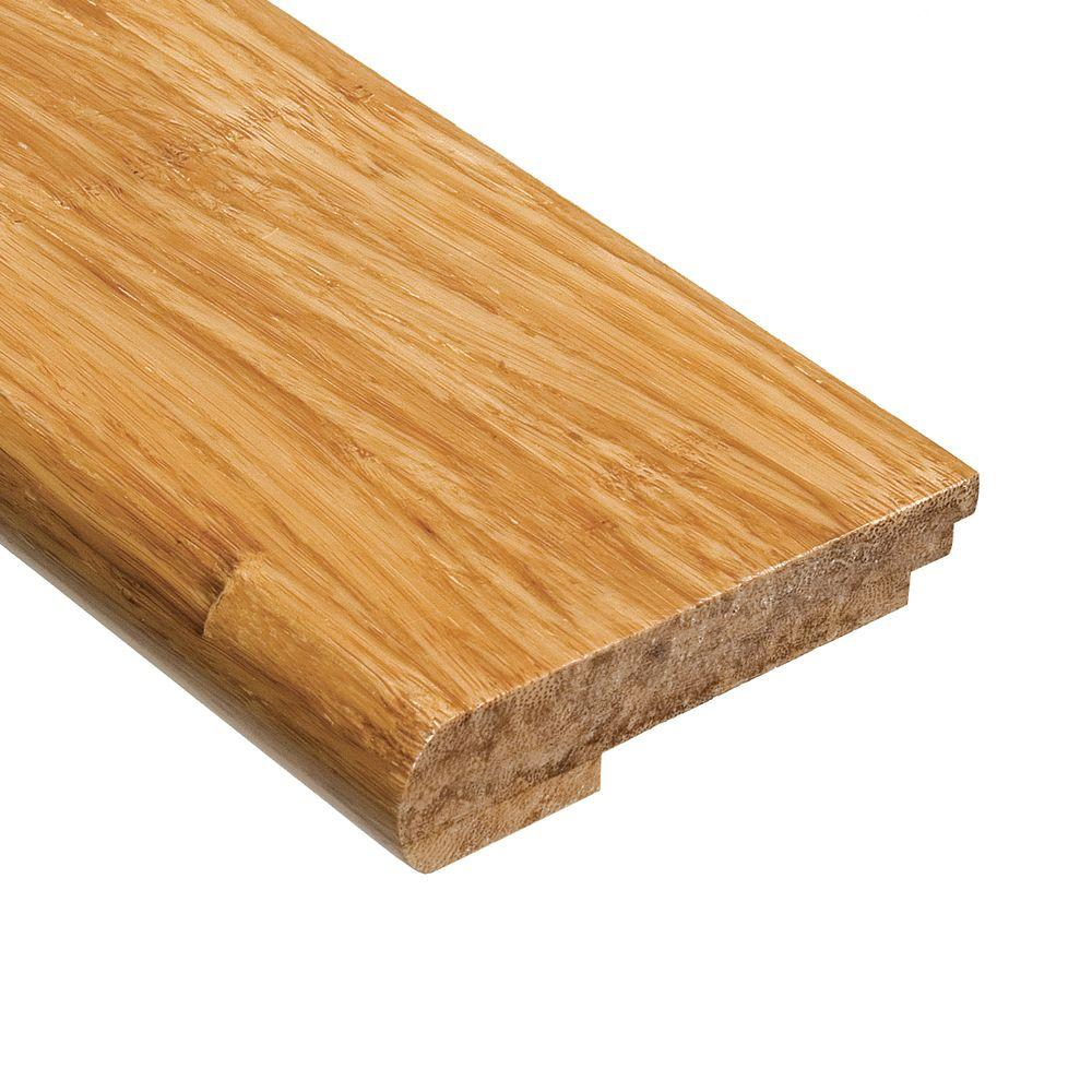 Home Legend Strand Woven Natural 9/16 in. Thick x 3-3/8 in. Wide x 78 in. Length Bamboo Stair Nose Molding