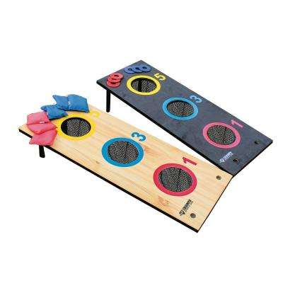 2-in-1 3-Hole Tournament Bag Toss/3-Hole Washer Toss