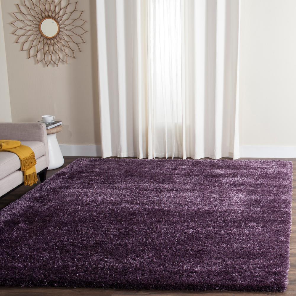 Safavieh Charlotte Shag Lavender 8 Ft. X 10 Ft. Area Rug