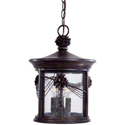 Abbey Lane 3-Light Iron Oxide Outdoor Chain Hung