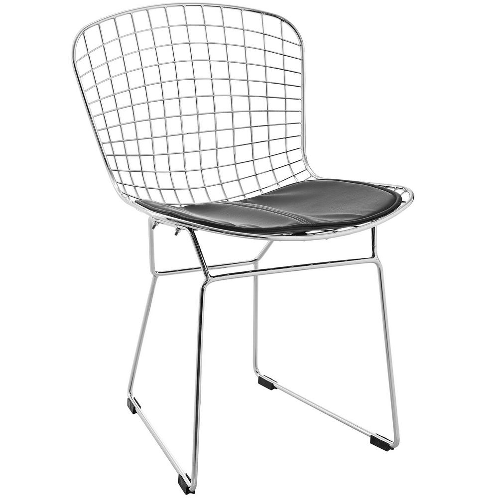 MODWAY CAD Black Dining Side Chair  sc 1 st  Home Depot & MODWAY CAD Black Dining Side Chair-EEI-161-BLK - The Home Depot