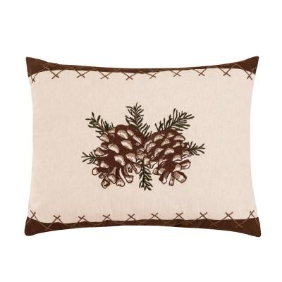 14 in. x 18 in. Lodge Pinecone Pillow