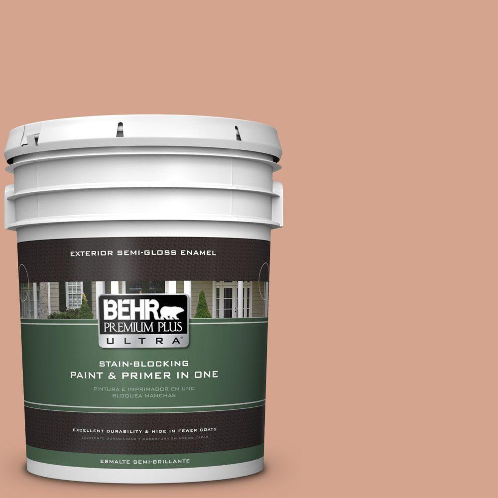 BEHR Premium Plus Ultra 5-gal. #240E-3 Coronado Dunes Semi-Gloss Enamel Exterior Paint