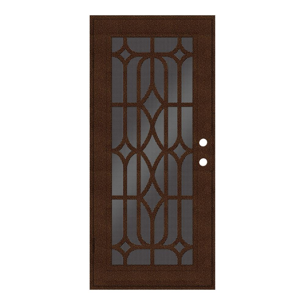 36 in. x 80 in. Essex Copperclad Left-Hand Surface Mount Security