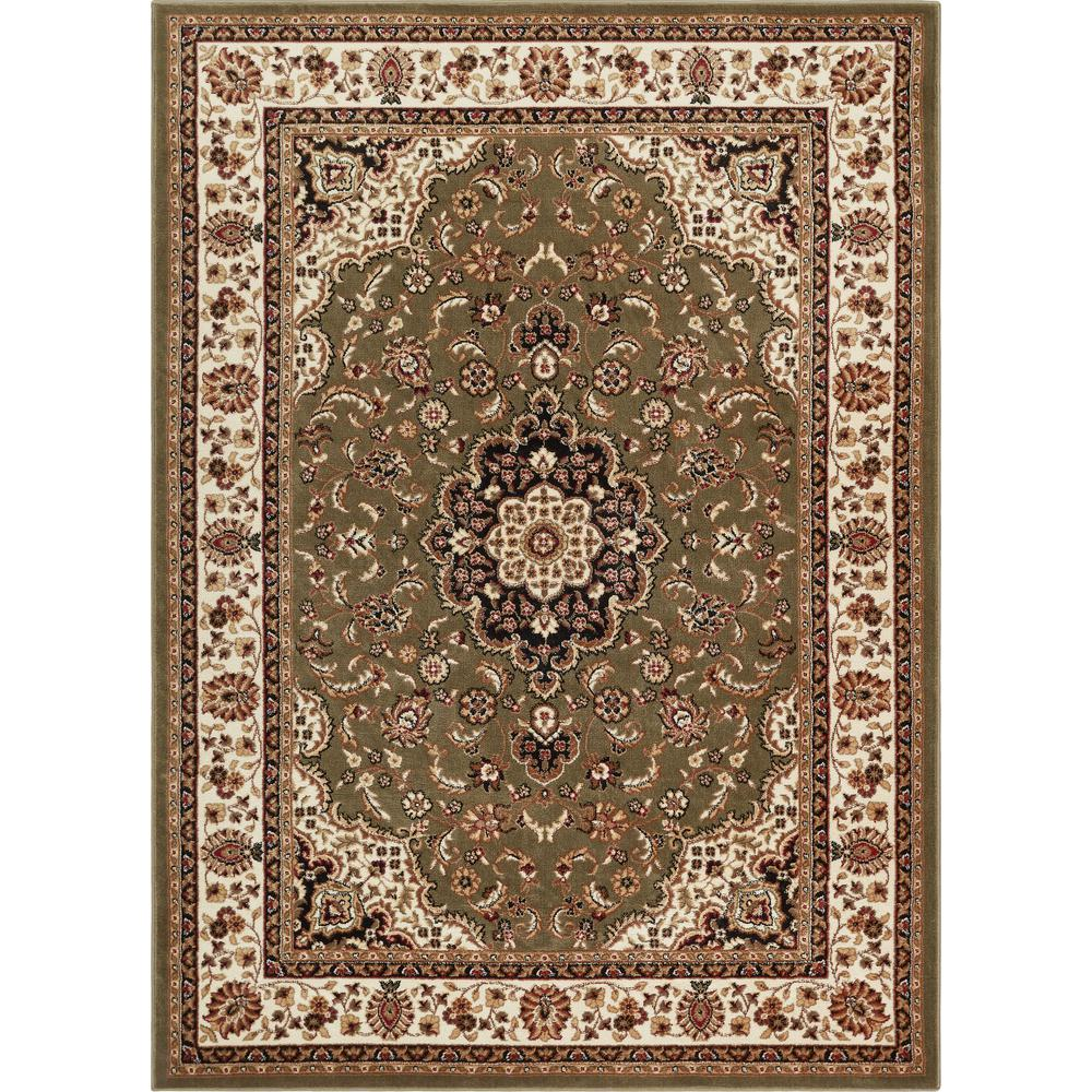 Barclay Medallion Kashan Green 8 ft. x
