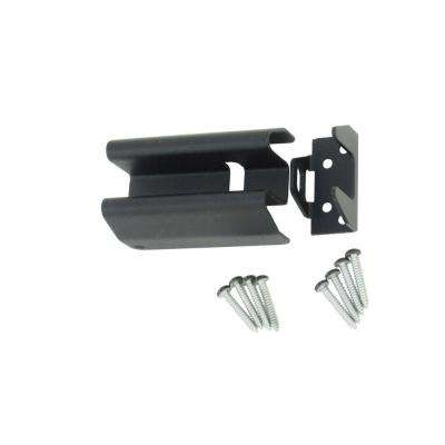 4 in. Black Heavy Metal Security Hasp
