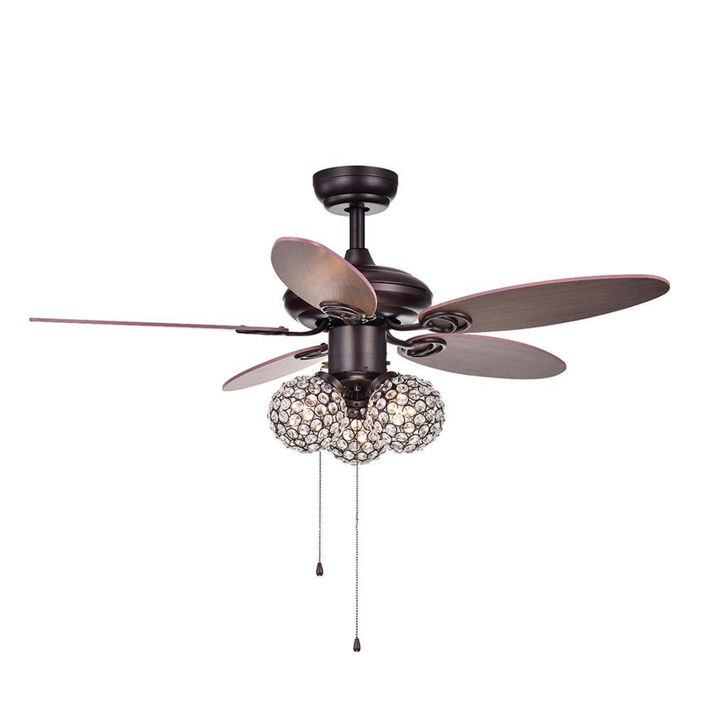 Casimer 42 in. Indoor Bronze Ceiling Fan with Light Kit