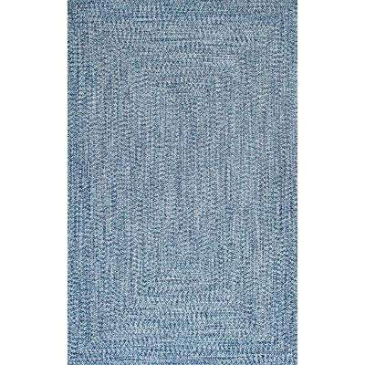 Braided Lefebvre Light Blue Indoor/Outdoor 7 ft. 6 in. x 9 ft. 6 in. Area Rug