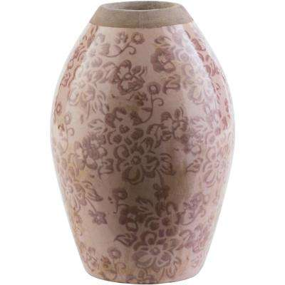 Thryth 8.46 in. Mauve Ceramic Decorative Vase
