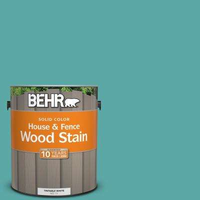 1 gal. #500D-5 Teal Zeal Solid Color House and Fence Exterior Wood Stain