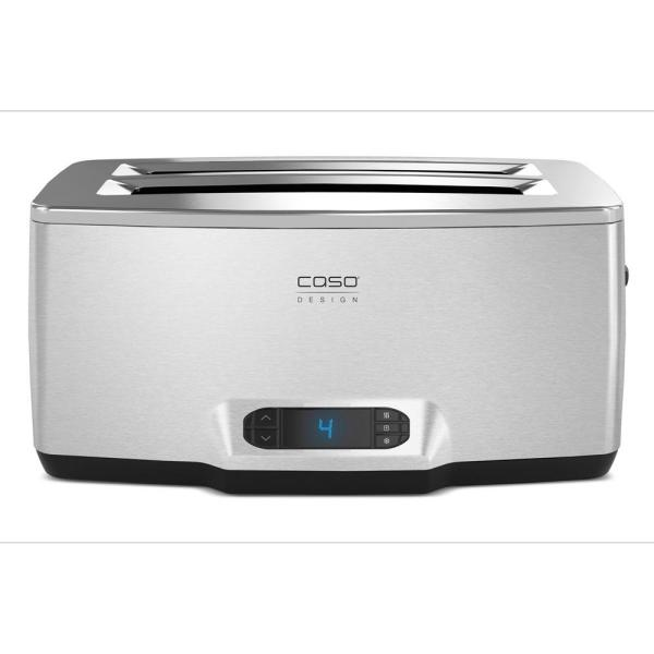 CASO Inox 4-Slice Stainless Toaster with Wire Warming Basket Attachment 12779