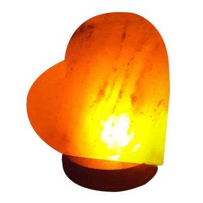 4.6 in. USB Multicolor Heart Salt Lamp