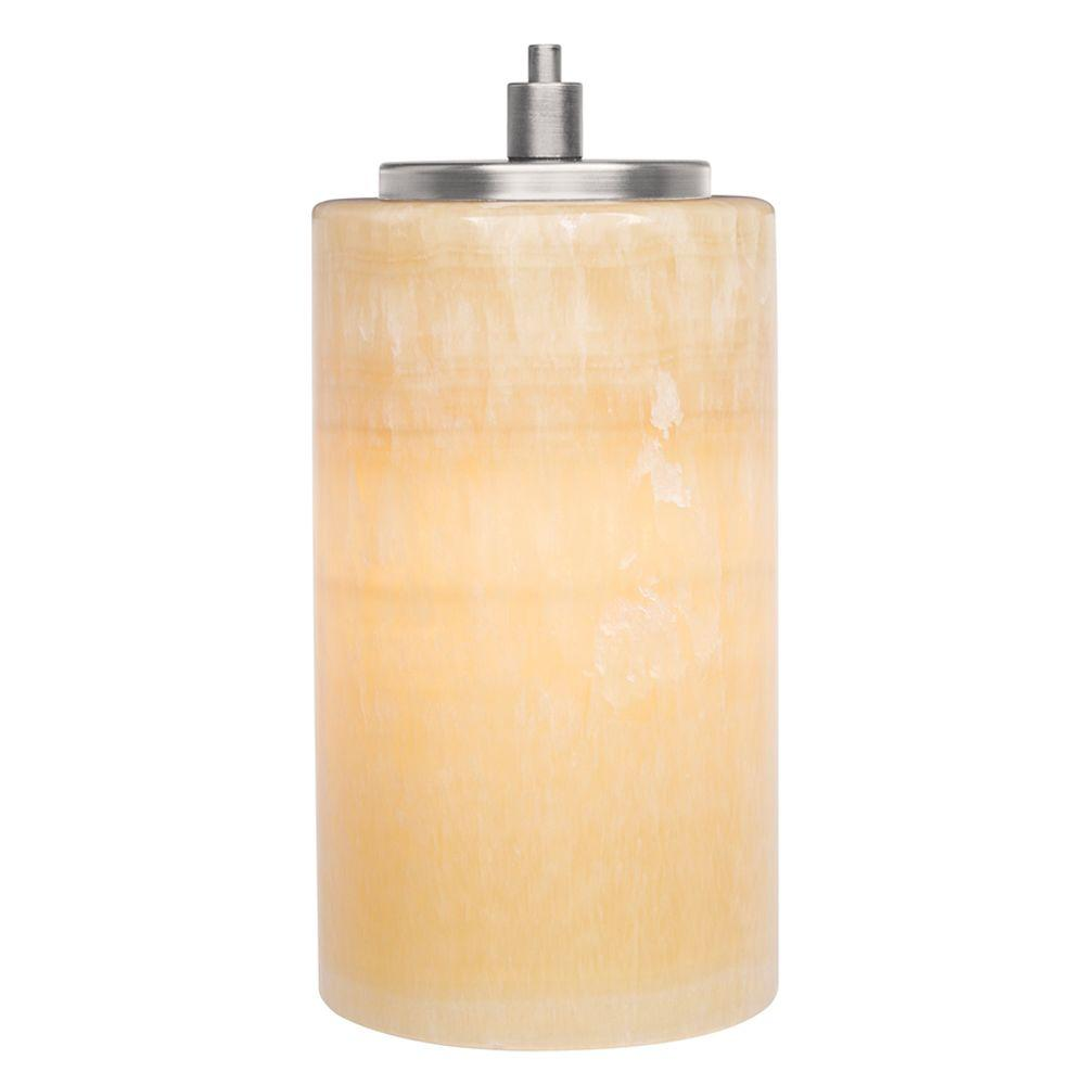 Onyx Cylinder 1-Light Satin Nickel Hanging Mini Pendant