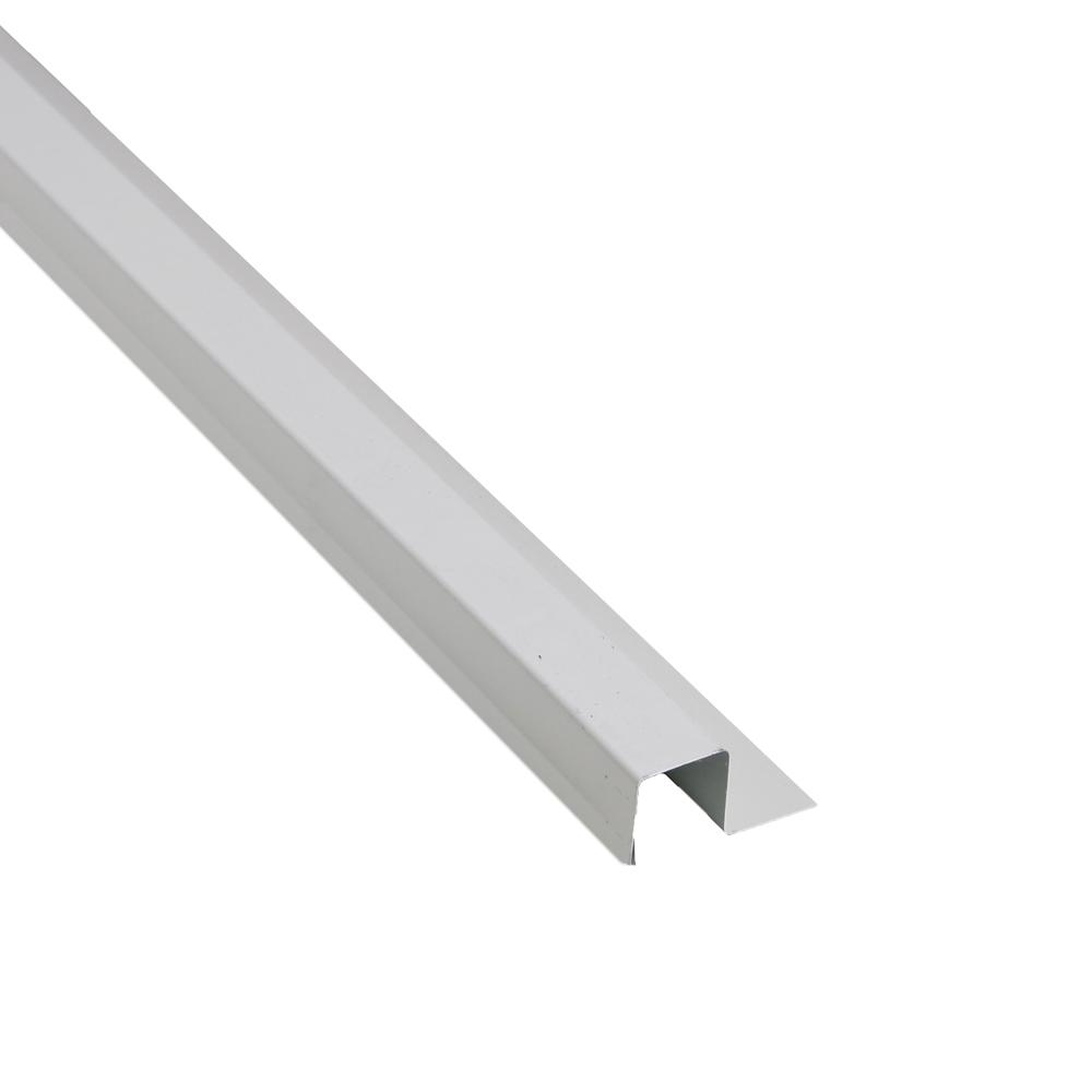 1-1/4 in. x 10.5 ft. White Steel Base Trim Drip Edge