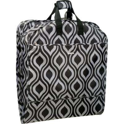 52 in. Dress Length Carry-On Fashion Ogee Garment Bag with 2-Pockets