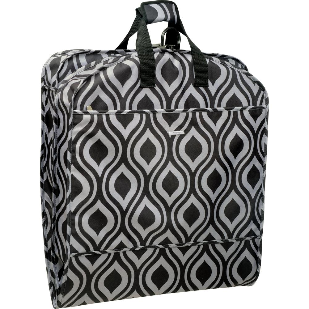 WallyBags 52 in. Dress Length Carry-On Fashion Ogee Garment Bag with ... f55c2f7df3