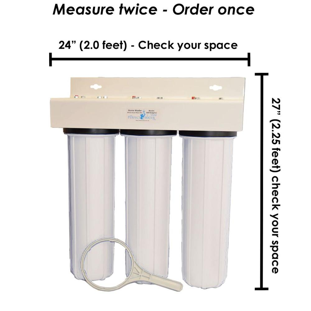 Home Master HMF3SDGFEC Whole House 3-Stage Water Filter with Fine Sediment Iron and Carbon