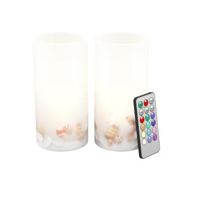 Seashell LED Flameless Candle Set (Set of 2)