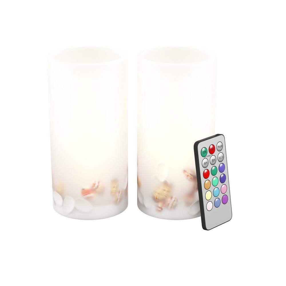 Seashell LED Flameless Candle Set (Set of 2)