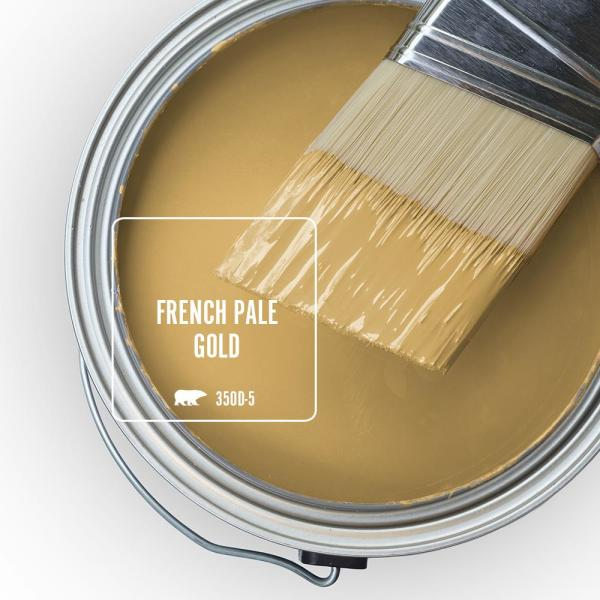 Reviews For Behr Marquee 5 Gal 350d 5 French Pale Gold Flat Exterior Paint Primer 445305 The Home Depot