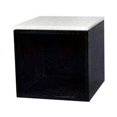 Angelico 16 in. W x 17.3 in. D x 17.5 in. H Wall Mounted Side Cabinet with No Door in Black Oak