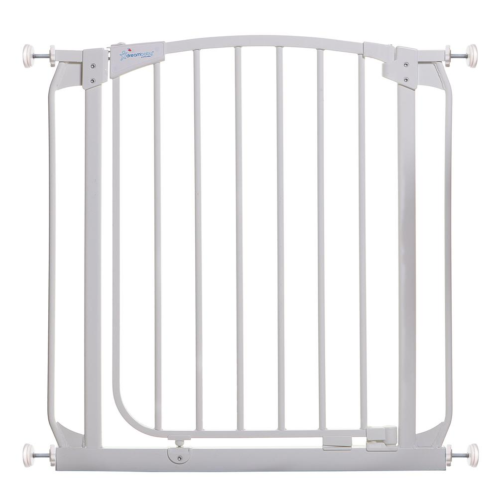 Dreambaby Chelsea 29.5 in. H Standard Height Auto-Close Security Gate in White