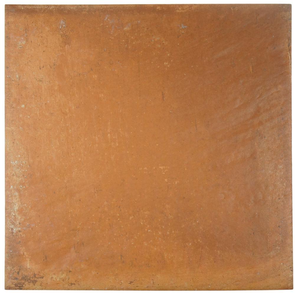 Merola tile rustic cotto 13 in x 13 in porcelain floor for 13 inch ceramic floor tile