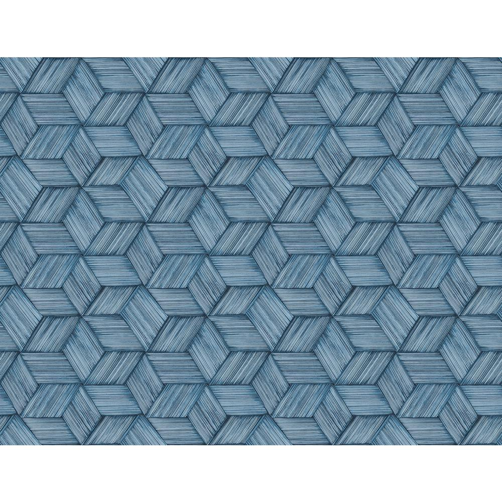 Kenneth James Intertwined Blue Geometric Wallpaper