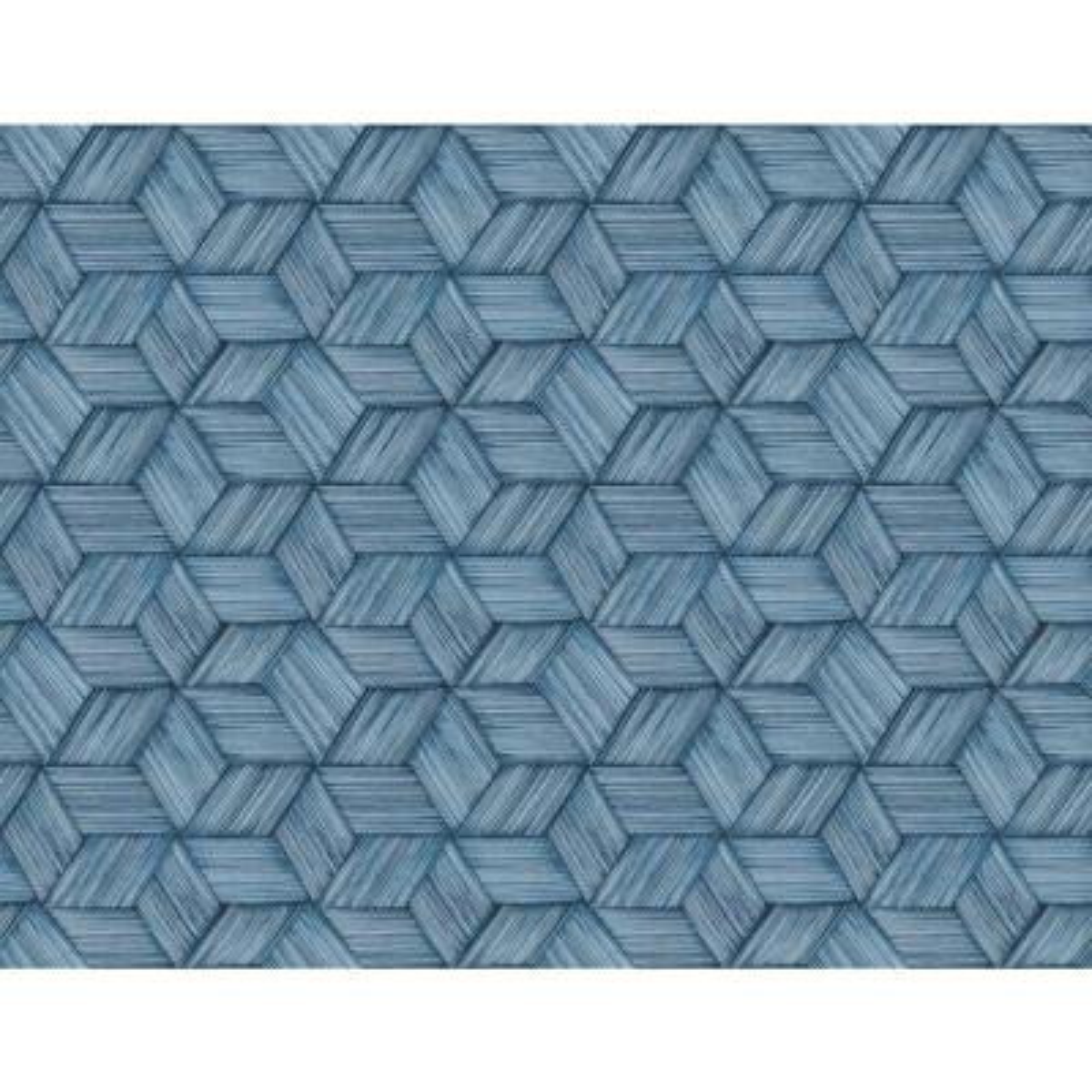 Intertwined Dark Green Geometric Wallpaper Sample