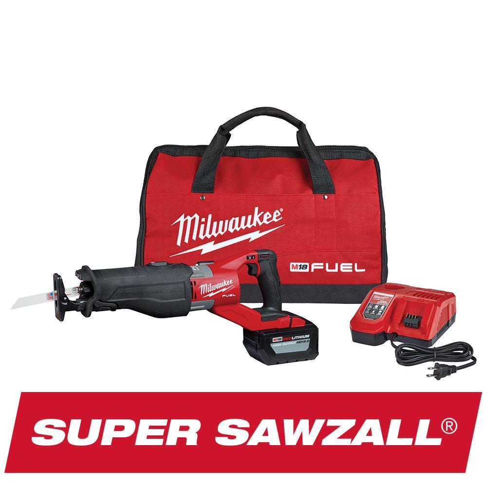 Milwaukee M18 18-V SUPER SAWZALL Orbital Reciprocating Saw Kit Deals