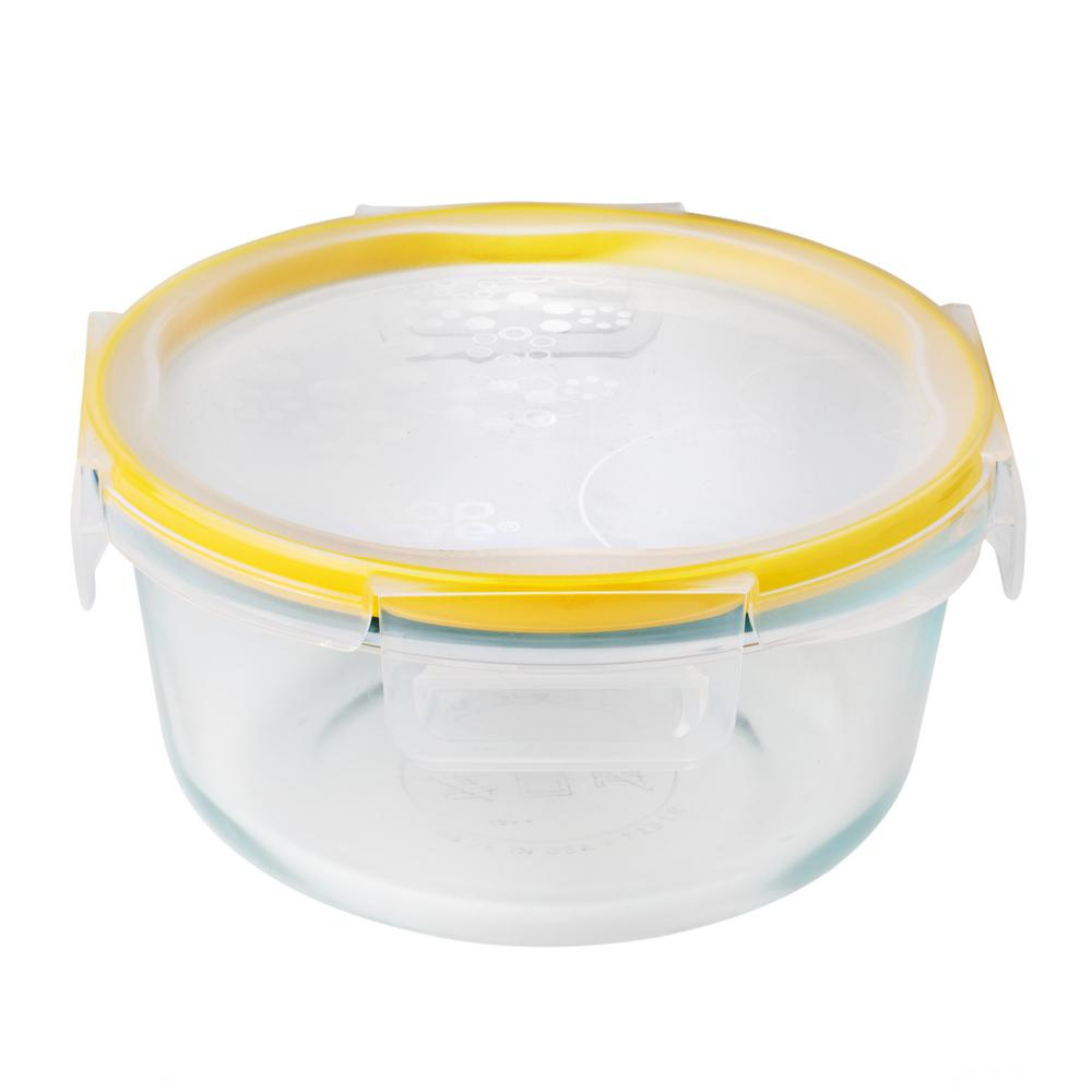 Total Solution Glass Food Storage 4-Cup with Lid