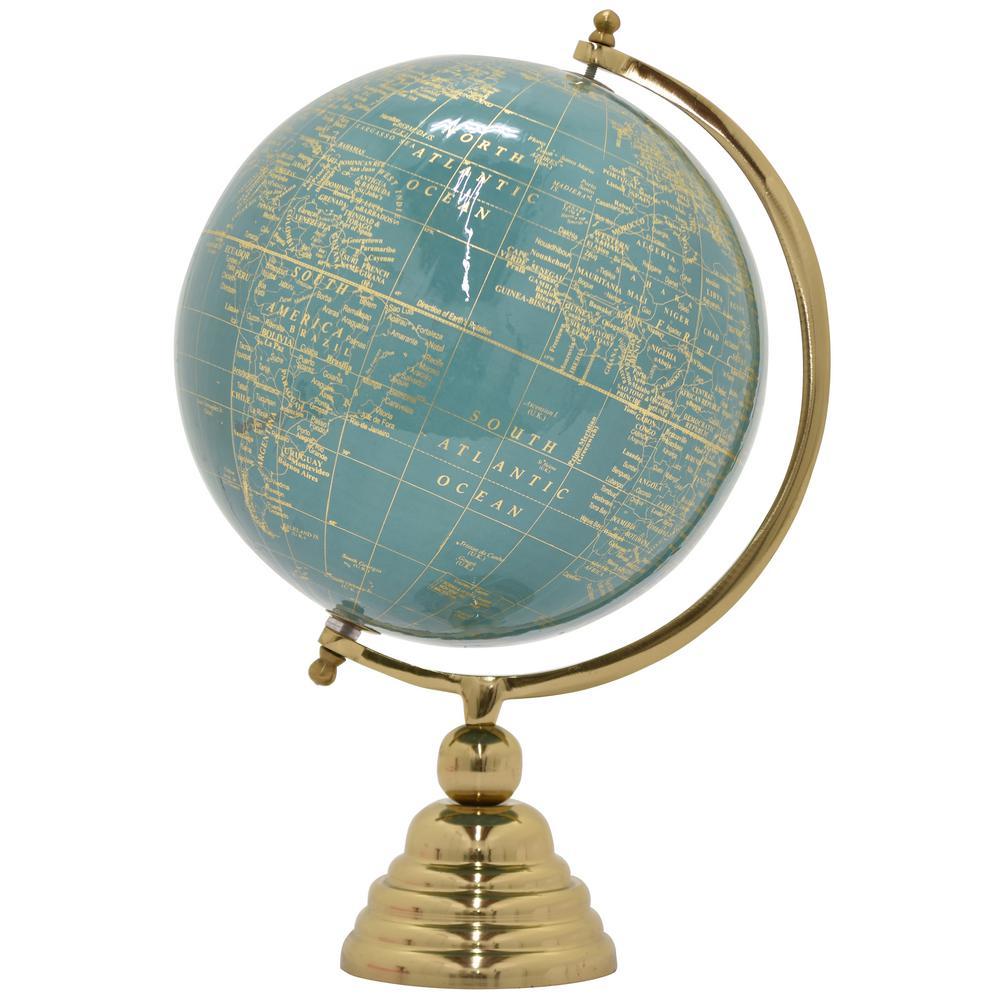 18.5 in. x 12 in. Nickel Gold Base Globe