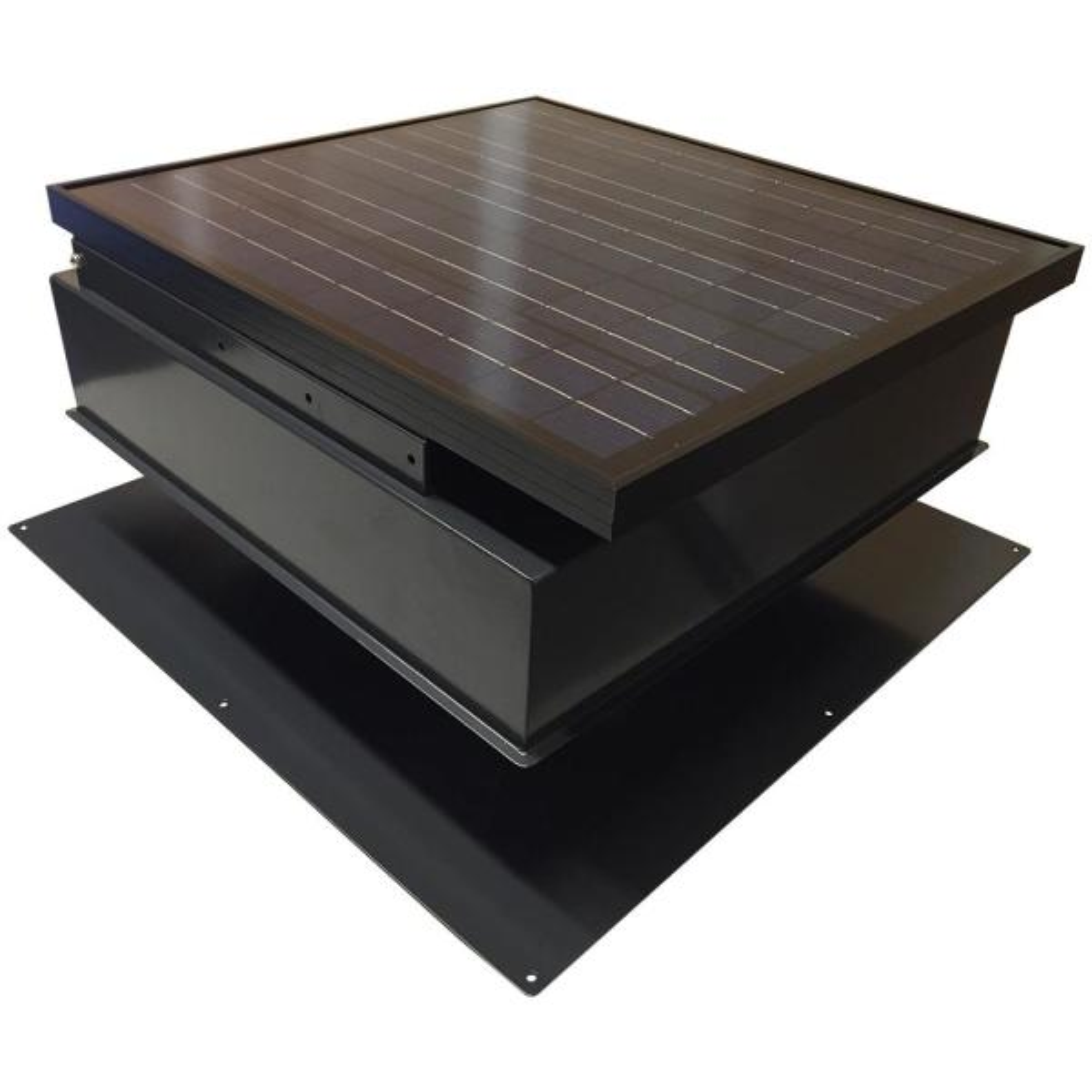 30-Watt 1550 CFM Black Solar Powered Attic Fan