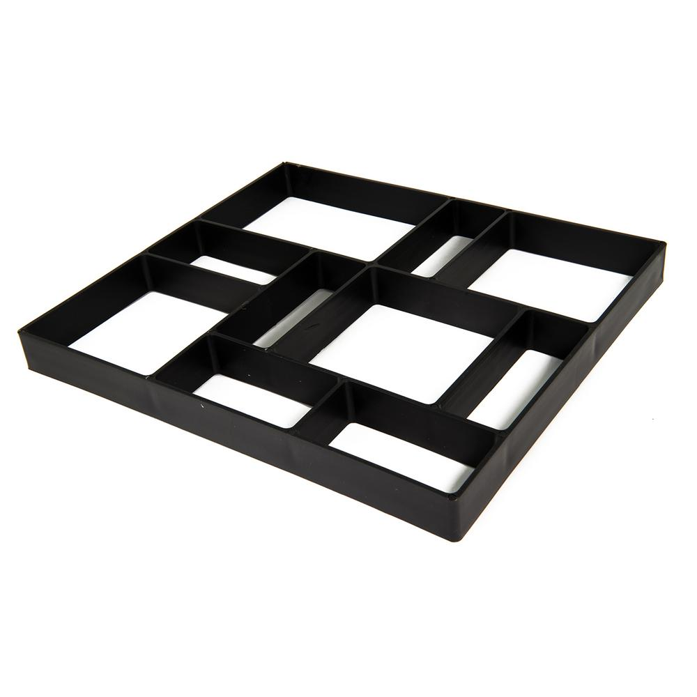 18 in  x 16 in  x 1 5 in  Black Plastic Mold Reusable Concrete Stepping  Stone, DIY Paver Pathway Maker