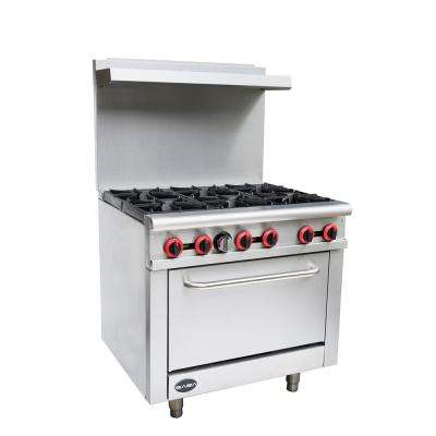 36 in. 4.5 cu. ft. Gas Range in Stainless Steel