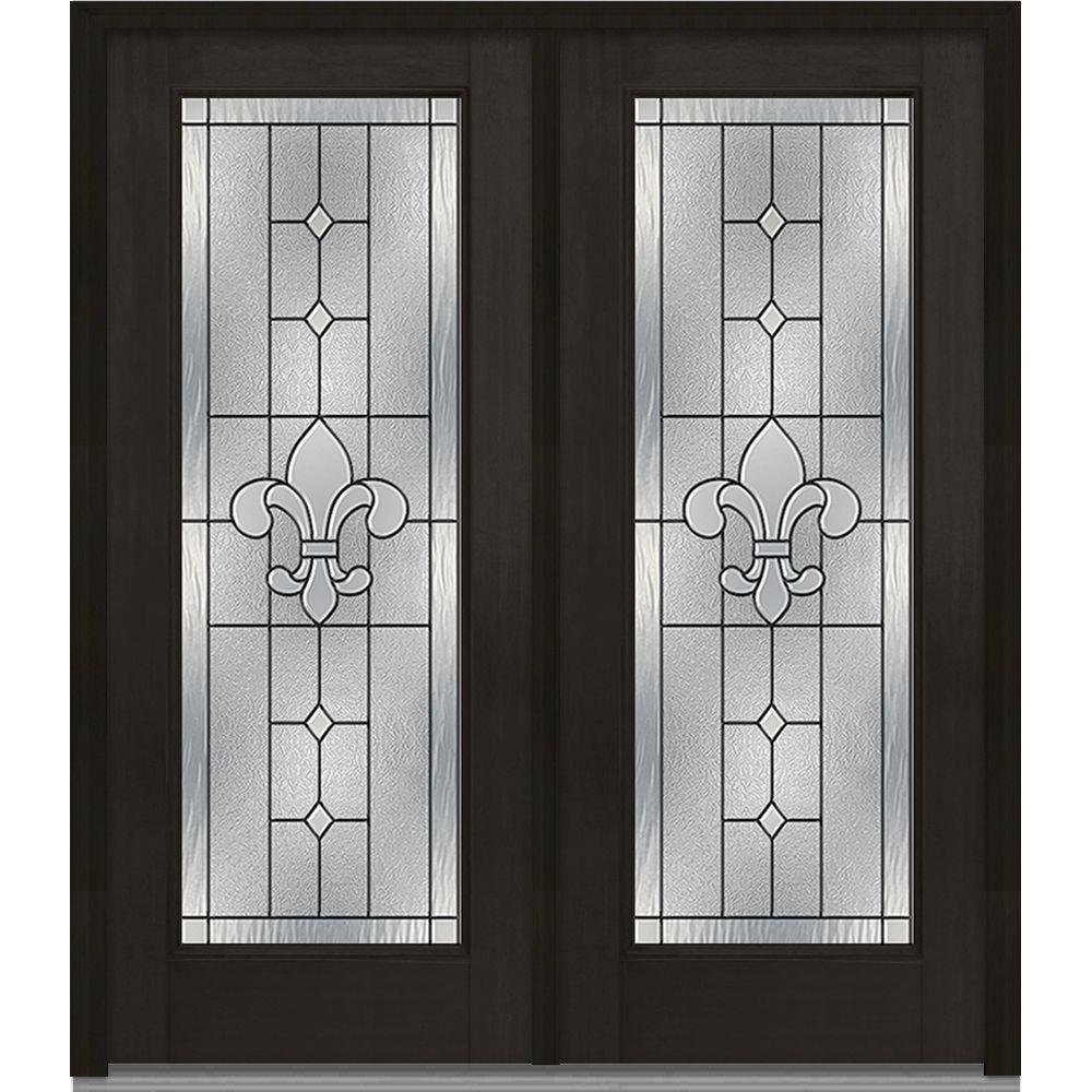 Mmi Door 64 In X 80 In Carrollton Left Hand Inswing Full Lite