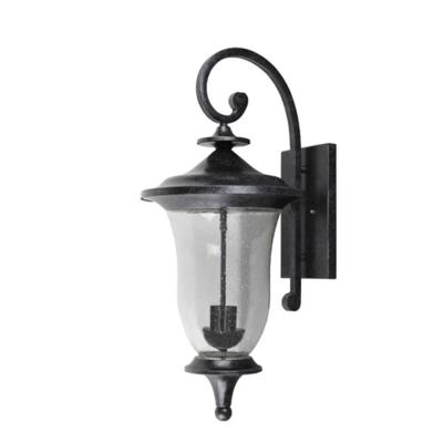 Brielle Large 2-Light Silvery Stone Outdoor Wall Lantern Sconce