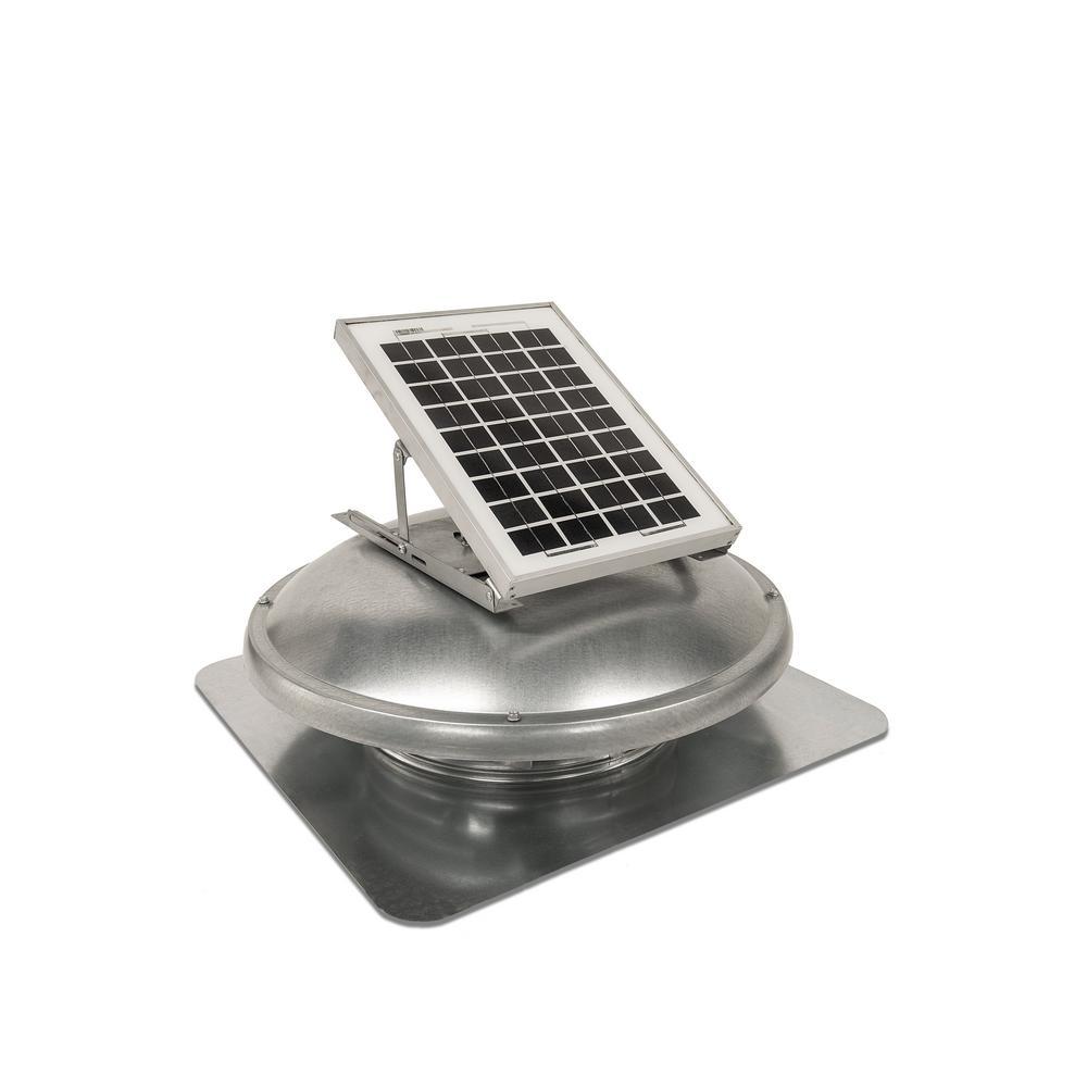 Master Flow 500 CFM Solar Powered Roof Mount Attic Fan