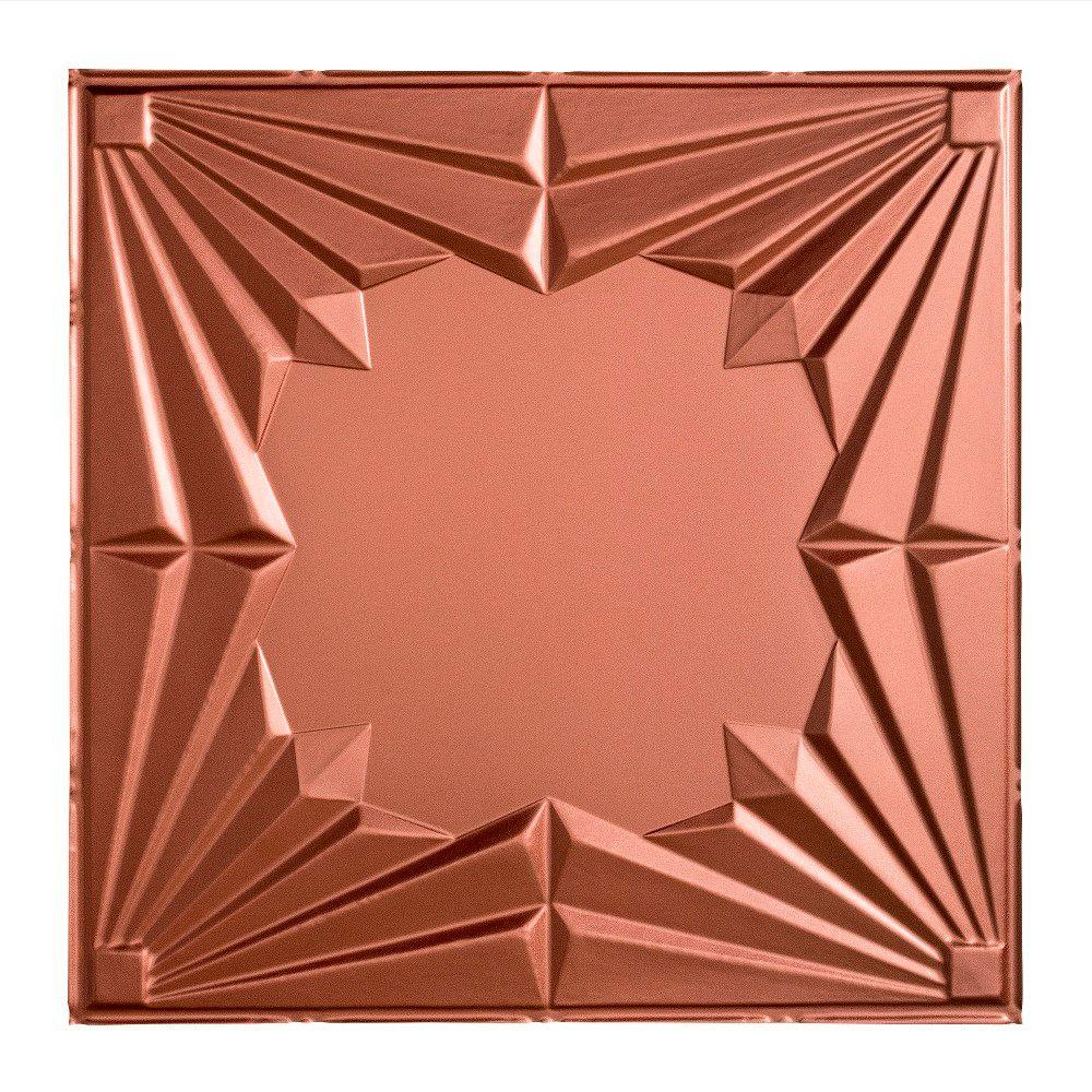 Fasade Art Deco - 2 ft. x 2 ft. Lay-in Ceiling Tile in Argent Copper