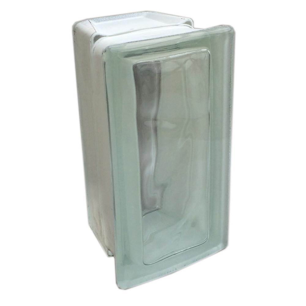 Nubio 3.875 in. x 7.75 in. x 3.875 in. 22-1/2° Allbend Wave Pattern Glass Block (6-Pack)