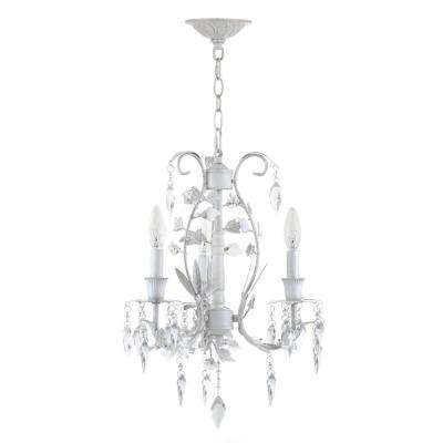 Jasper 3-Light White Chandelier