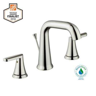 Jax 8 in. Widespread 2-Handle High-Arc Bathroom Faucet in Polished Nickel