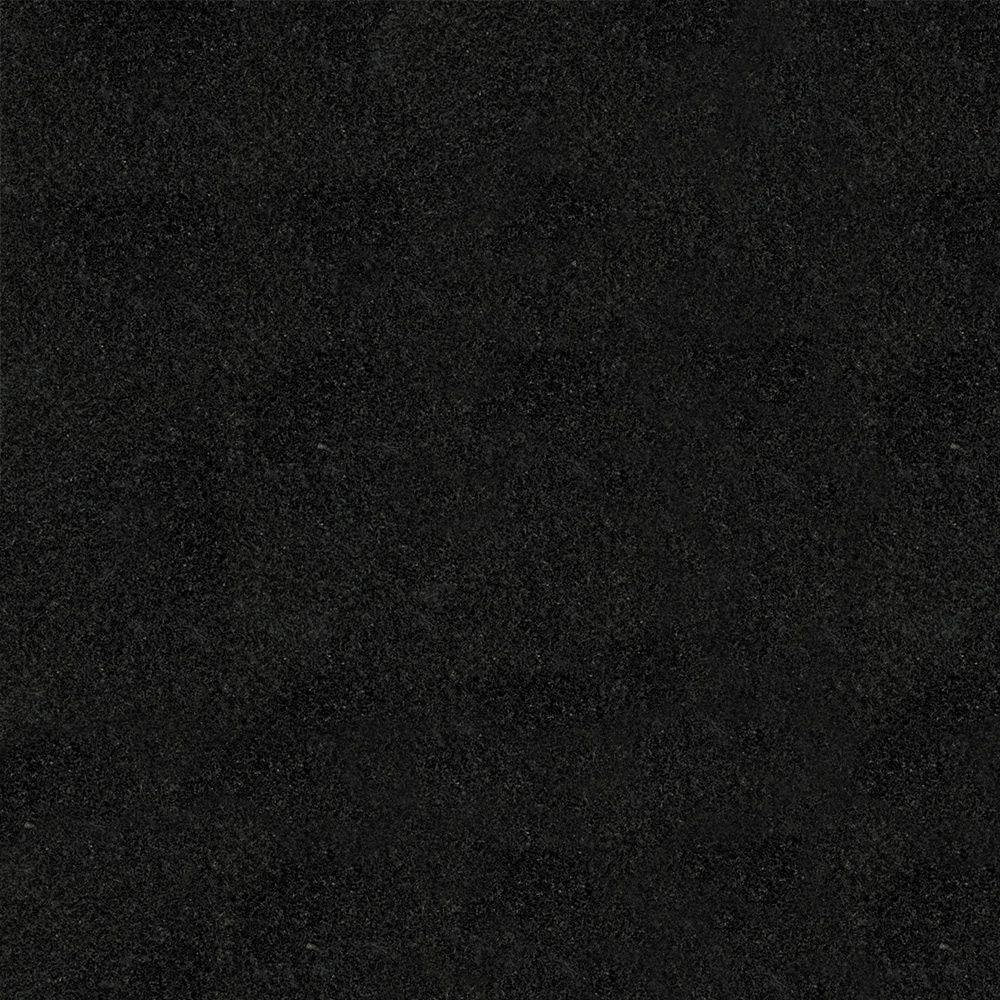 KraftMaid 4 in. x 4 in. Natural Granite Vanity Top Sample in Absolute Black