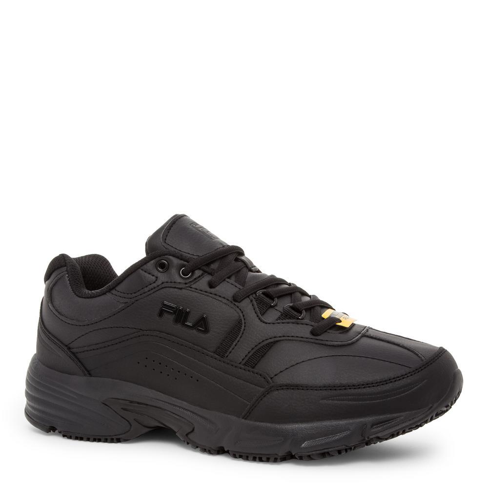 Men's Memory Workshift Slip Resistant Athletic Shoes - Soft Toe - BLACK Size 9(W)
