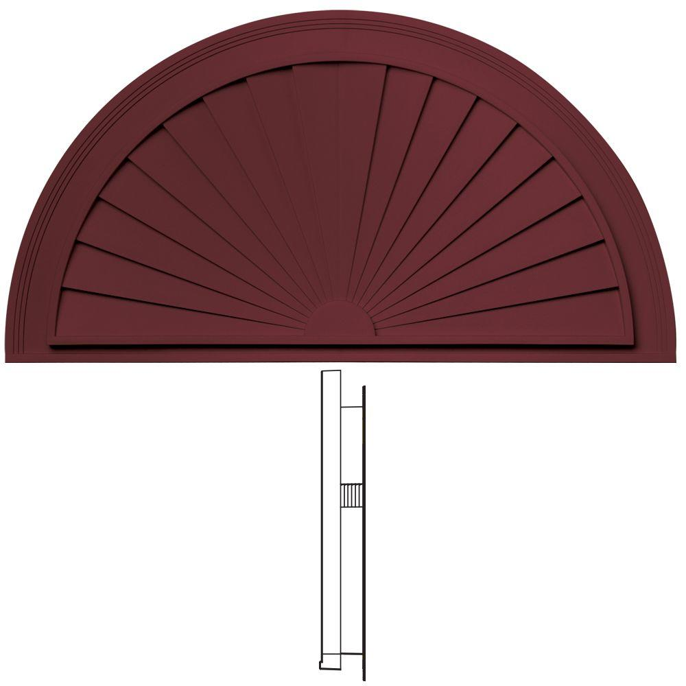 Builders Edge 37-5/8 in. Sunburst in 078 Wineberry-DISCONTINUED