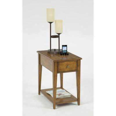 Progressive Furniture Chairsides Poplar Birch Veneer Chairside Table, Poplar - Birch Veneer