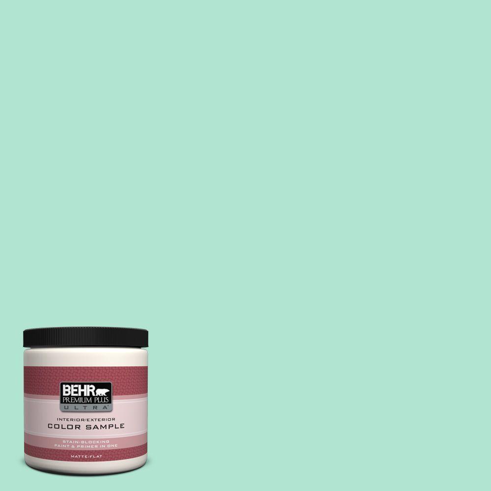 BEHR Premium Plus Ultra 8 oz. #P420-2 Crystal Rapids Interior/Exterior Paint Sample